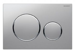 Geberit Sigma20 Stainless Steel (Brushed/Polished) Screwable Dual Flush Plate - 115.889.SN.1
